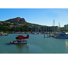 The Red Baron on the Breakwater Marina, Townsville Photographic Print