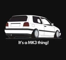 MKIII Gti Graphic-White ink by VolkWear