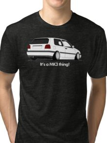 MKIII Gti Graphic-White ink Tri-blend T-Shirt