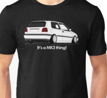 MKIII Gti Graphic-White ink Unisex T-Shirt