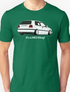 MKIII Gti Graphic-White ink T-Shirt