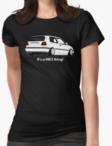 MKIII Gti Graphic-White ink Womens Fitted T-Shirt