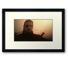 Sunset on Mother Base Framed Print