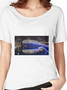 Webb Bridge by night at the Docklands, Melbourne Women's Relaxed Fit T-Shirt
