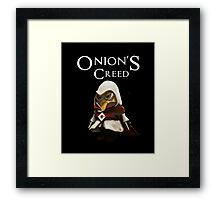 onion's creed Framed Print