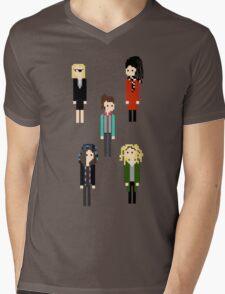 Pixel Sestras - 5 - Vertical Mens V-Neck T-Shirt