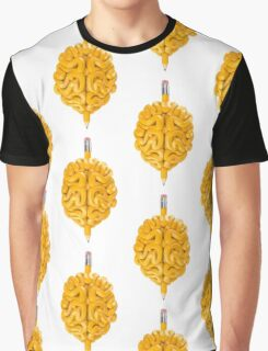 Pencil Brain Graphic T-Shirt