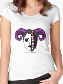 LucidScreams Demon Women's Fitted Scoop T-Shirt