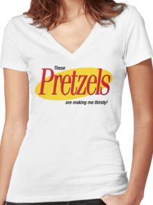 These are making me thirsty! Women's Fitted V-Neck T-Shirt