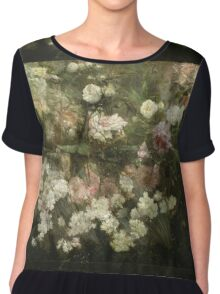 Maria Oakey Dewing - Garden In May. Still life with flowers: flowers, blossom, peony, Rose, floral flora, wonderful flower, plants, cute plant for kitchen interior, garden, pink Chiffon Top