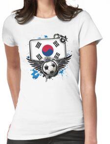 Soccer Fan South Korea Womens Fitted T-Shirt