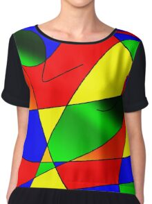 ABSTRACT CURVES-2 (Multicolor Bright-3)-(9000 x 9000 px) Chiffon Top
