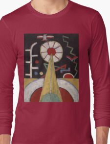 Marsden Hartley - Berlin Series No. 1. Abstract painting: abstract art, geometric, expressionism, composition, lines, forms, creative fusion, spot, shape, illusion, fantasy future Long Sleeve T-Shirt