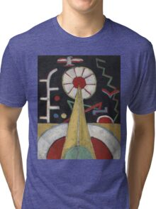 Marsden Hartley - Berlin Series No. 1. Abstract painting: abstract art, geometric, expressionism, composition, lines, forms, creative fusion, spot, shape, illusion, fantasy future Tri-blend T-Shirt