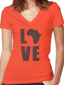 Love Africa Women's Fitted V-Neck T-Shirt