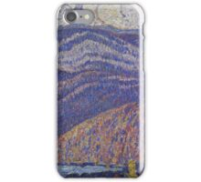Marsden Hartley - Hall Of The Mountain King. Mountains landscape: mountains, rocks, rocky nature, sky and clouds, trees, peak, forest, rustic, hill, travel, hillside iPhone Case/Skin