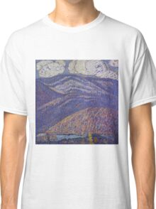 Marsden Hartley - Hall Of The Mountain King. Mountains landscape: mountains, rocks, rocky nature, sky and clouds, trees, peak, forest, rustic, hill, travel, hillside Classic T-Shirt