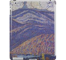 Marsden Hartley - Hall Of The Mountain King. Mountains landscape: mountains, rocks, rocky nature, sky and clouds, trees, peak, forest, rustic, hill, travel, hillside iPad Case/Skin