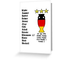 Germany Euro 1996 Winners Greeting Card