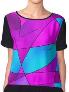 ABSTRACT CURVES-2 (Purples, Violets, Fuchsias & Turquoises)-(9000 x 9000 px) Chiffon Top