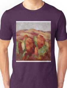 Marsden Hartley - Mountains. Mountains landscape: mountains, rocks, rocky nature, sky and clouds, trees, peak, forest, rustic, hill, travel, hillside Unisex T-Shirt