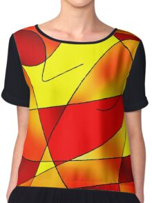 ABSTRACT CURVES-2 (Reds, Oranges & Yellows)-(9000 x 9000 px) Chiffon Top