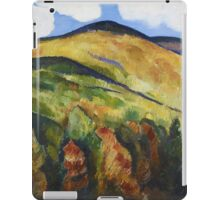 Marsden Hartley - Mountains No. 22. Mountains landscape: mountains, rocks, rocky nature, sky and clouds, trees, peak, forest, rustic, hill, travel, hillside iPad Case/Skin