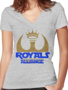 ROYALS ALLIANCE BLUE!! Women's Fitted V-Neck T-Shirt