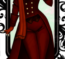 Red Victorian Steampunk Explorer Sticker