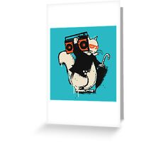 Boombox squirrel Greeting Card