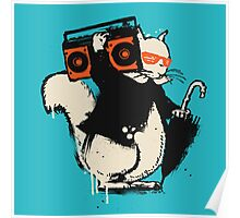 Boombox squirrel Poster
