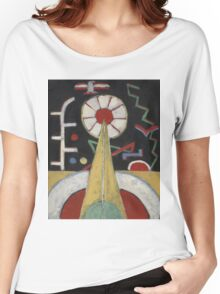 Marsden Hartley - Painting No. 3. Abstract painting: abstract art, geometric, expressionism, composition, lines, forms, creative fusion, spot, shape, illusion, fantasy future Women's Relaxed Fit T-Shirt