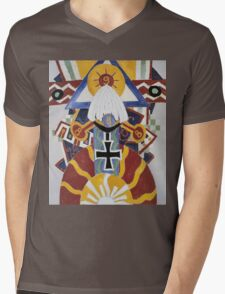 Marsden Hartley - Painting Number 49, Berline. Abstract painting: abstract art, geometric, expressionism, composition, lines, forms, creative fusion, spot, shape, illusion, fantasy future Mens V-Neck T-Shirt