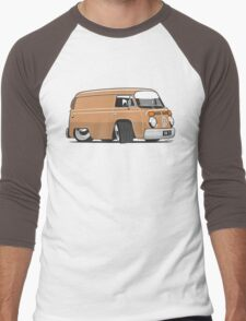 VW T2 van cartoon brown Men's Baseball ¾ T-Shirt