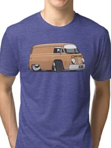 VW T2 van cartoon brown Tri-blend T-Shirt