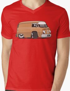 VW T2 van cartoon brown Mens V-Neck T-Shirt