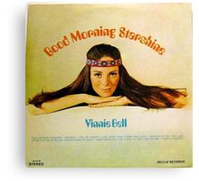 Good Morning Starshine, 60's Hippie Girl Album Cover Canvas Print