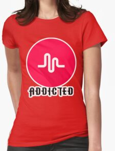 musically addiction Womens Fitted T-Shirt