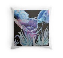 Jellyfish 2, original oil by Nicki b Throw Pillow