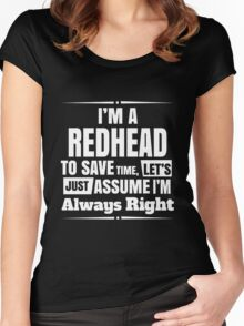 Redhead - Im A Redhead Women's Fitted Scoop T-Shirt