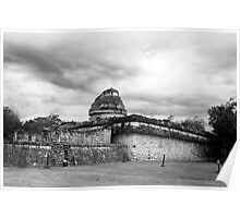 The Observatory of Chichen Itza Poster