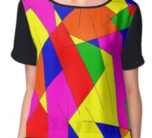 ABSTRACT LINES-1 (Multicolor Bright)-(9000 x 9000 px) Chiffon Top