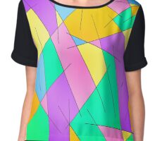 ABSTRACT LINES-1 (Multicolor Light)-(9000 x 9000 px) Chiffon Top