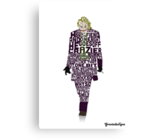 Joker from The Dark Knight Typography Design of His Quote Canvas Print