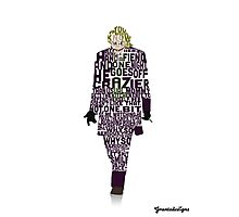 Joker from The Dark Knight Typography Design of His Quote Photographic Print