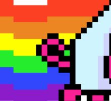 Nyan Dark Side Pink Pig - Pixels Sticker