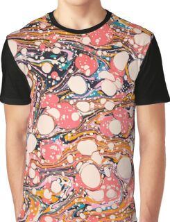 Psychedelic Retro Marbled Paper Graphic T-Shirt