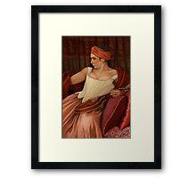 Girl with the Mandolin  Framed Print