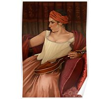 Girl with the Mandolin  Poster