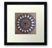 Tri-Color Mandala Framed Print